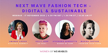 WEBINAR - Next Wave Fashion Tech - Digital and Sustainable tickets