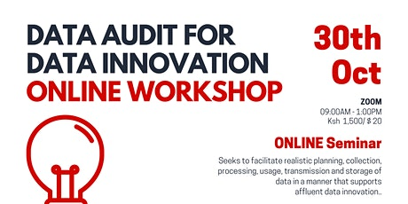 How to conduct a data audit for data innovation (Online Seminar) tickets