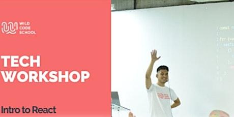 Online Tech Workshop - Build your first React App ⚛️ tickets