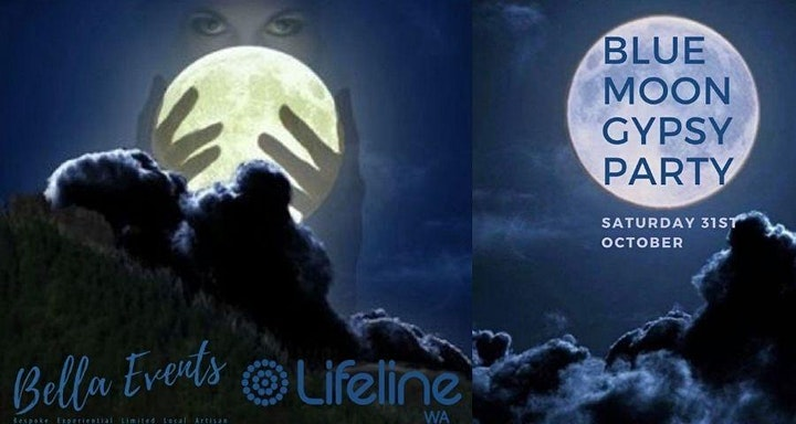 Blue Moon Gypsy Halloween - Once in a Lifetime Party for Lifeline WA image