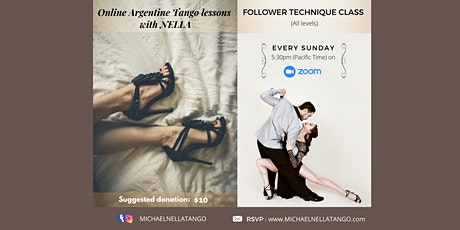 Online Argentine TANGO Dance classes with USA Tango champion tickets