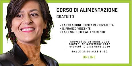 Corso Di Alimentazione Online Gratuito biglietti
