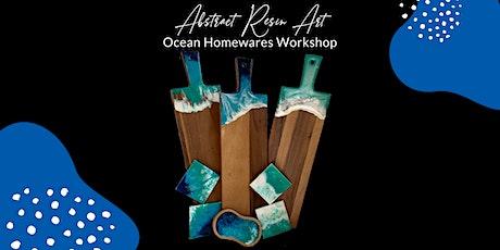 Abstract Resin Art - Ocean Homewares Workshop tickets