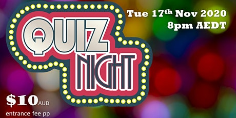 Quiz Night - a play and playing related quiz tickets