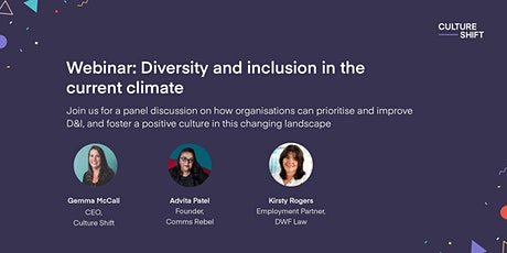 Diversity and inclusion in the current climate tickets
