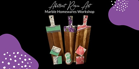 Abstract Resin Art - Marble Homewares Workshop tickets