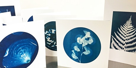 Cyanotype Card Making Workshop via Zoom with Kit tickets