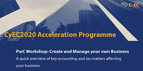 PwC Workshop: Create and Manage your own Business tickets