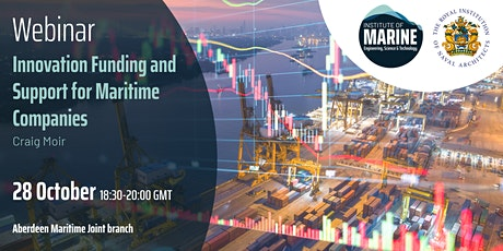WEBINAR: Innovation Funding and Support for Maritime Companies tickets