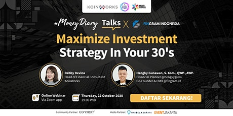 MoneyDiary Talks: Maximize Investment Strategy In Your 30's tickets