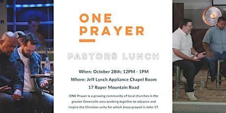 Pastors Fellowship & Prayer Lunch tickets
