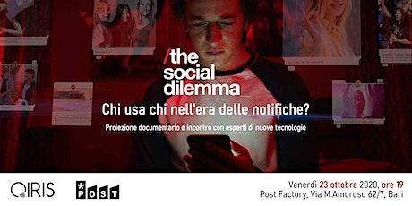 The social dilemma: chi usa chi nell'era delle notifiche? biglietti