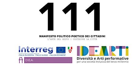 MANIFESTO 111 Virgilio Sieni biglietti