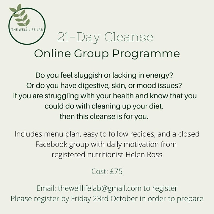 21-Day Online Group Cleanse Programme image