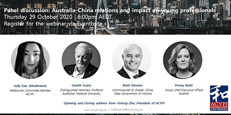 Australia-China relations and impact on young professionals tickets