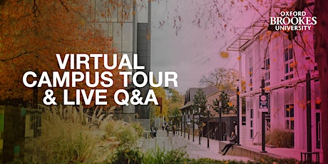 Oxford Brookes campus tours and Unibuddy Live Q&A - 18 November 2020 tickets