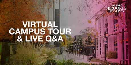 Oxford Brookes campus tours and Unibuddy Live Q&A -  28 November 2020 tickets