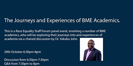 Journey and experiences of BME academics. tickets