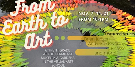 From Earth To Art; Nov 7, 14, 21 tickets