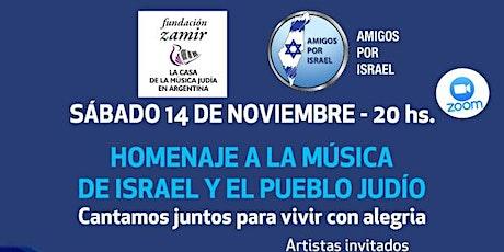 HOMENAJE A LA MUSICA DE ISRAEL Y EL PUEBLO JUDIO entradas