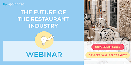 The Future of the Restaurant Industry tickets