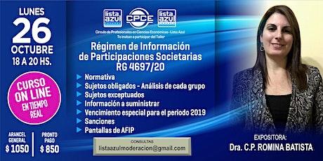 Régimen de Información de Participaciones Societarias RG 4697/20 entradas