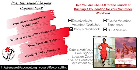 Building a Foundation for Your Volunteers Workbook Launch & Conversation tickets