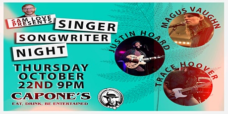 Singer Songwriter Night with Magus Vaughn, Justin Hoard and Trace Hover