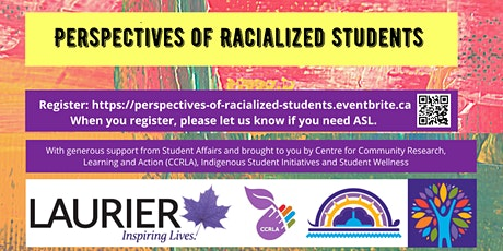 Perspectives of Racialized Students tickets