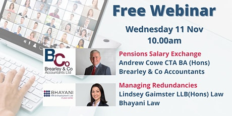 Pension Salary Exchange & Planning and Managing Redundancies webinar tickets