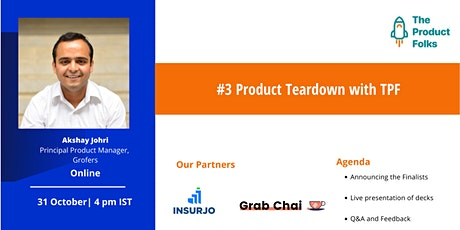 #3 Product Teardown with The Product Folks tickets
