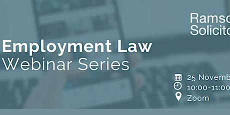 Employment Law Webinar tickets