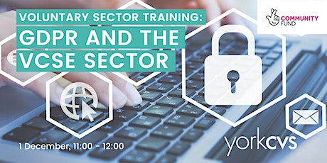 General Data Protection Regulation (GDPR) and the VCSE Sector tickets