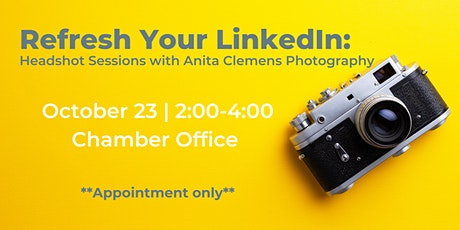 Refresh Your LinkedIn: Headshot Sessions with Anita Clemens Photography tickets