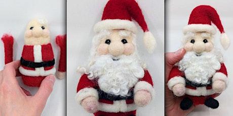 Needle Felt a Santa Claus Figure
