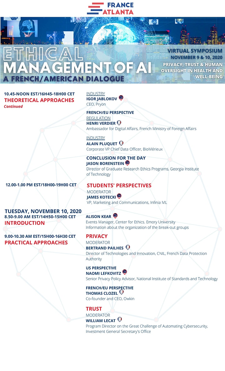 Ethical Management of AI: A French-American Dialogue Virtual Symposium image