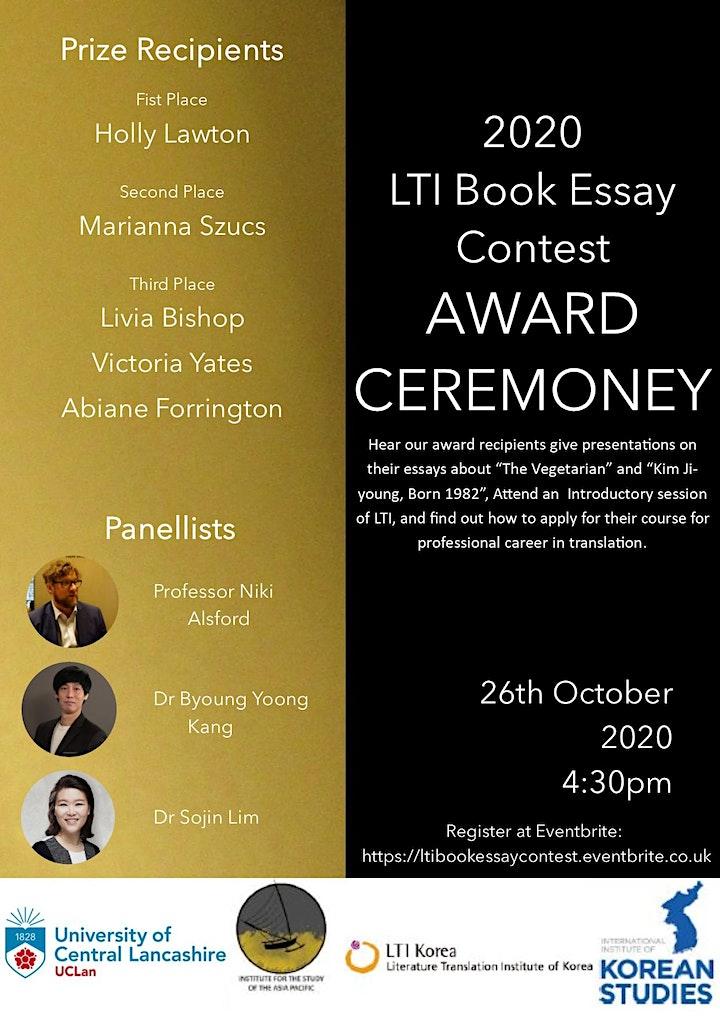 2020 LTI Book Essay Contest  Award Ceremony image