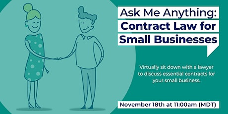 Ask Me Anything: Contract Law for Small Businesses tickets