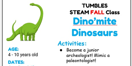 Dino Day Camp (Age 4- 10 years old) tickets