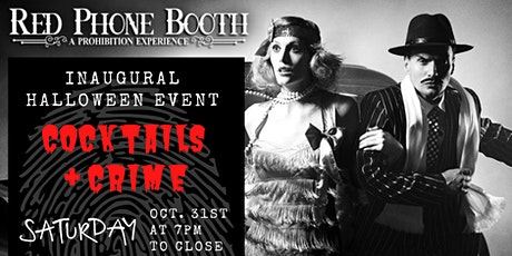 Red Phone Booth's Halloween Event -- Cocktails & Crime tickets