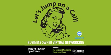Business Owner Virtual Networking tickets