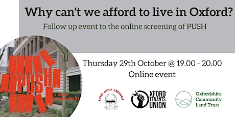 Why can't we afford to live in Oxford? tickets