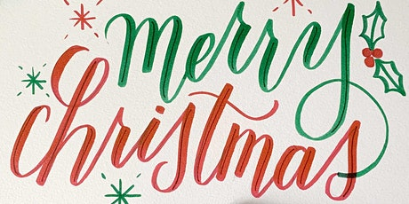 Holiday Card Workshop: Brush Calligraphy and Fauxligraphy Lettering tickets