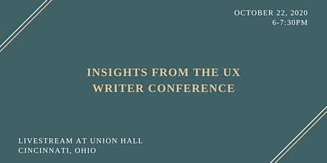 UX Writing: Conference Insights & Take Aways tickets