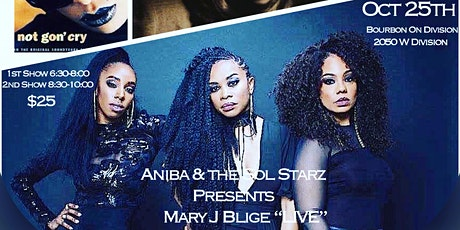 """*Early Show* Aniba and the Sol Starz Presents Mary J. Blige """"Live"""" Tribute tickets"""
