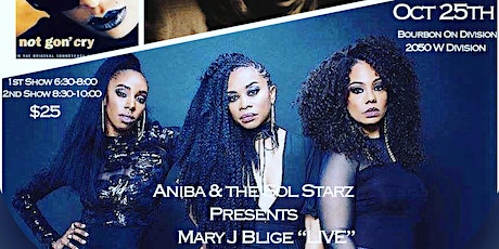 """*Late Show* Aniba and the Sol Starz Presents Mary J Blige """"Live"""" Tribute tickets"""