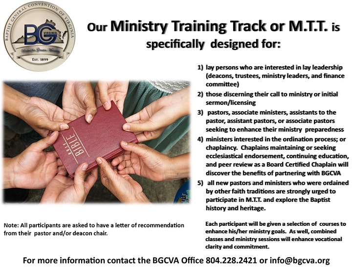 Ministry Training Track  (M.T.T.) image