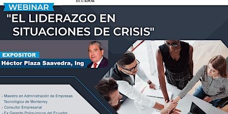 """Webinar """"Liderazgo en situaciones de crisis"""" entradas"""