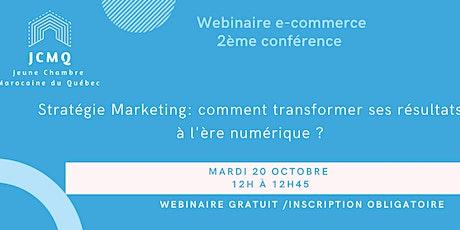 Webinaire e-commerce : stratégie marketing billets