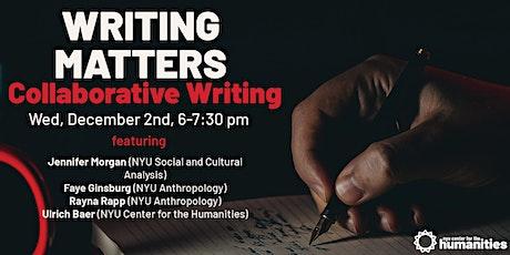 Writing Matters: Collaborative Writing